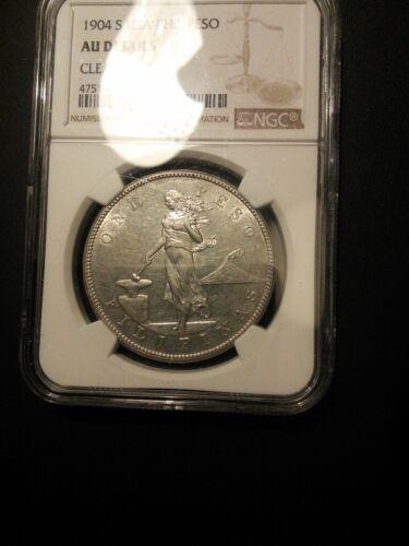 U.S. Philippines Peso 1904-S NGC AU Details