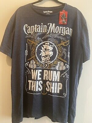Mens Captain Morgan XXL Tshirt - New With Tags