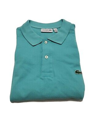 Lacoste Baby Blue/Turquoise Short Sleeve Men's Polo Shirt Size 4XL