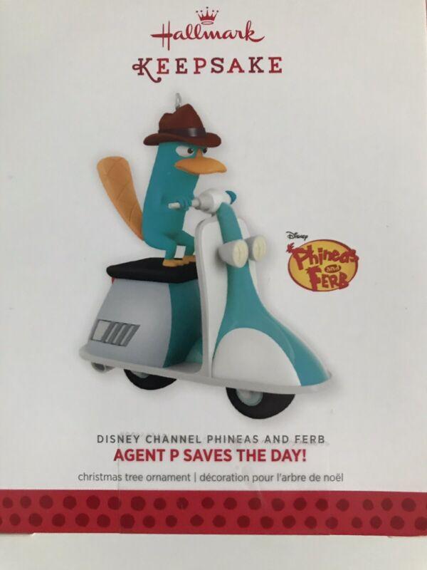 "2013 Hallmark Keepsake ""Agent P Saves the Day"" Ornament!  ~~NEW In Box"