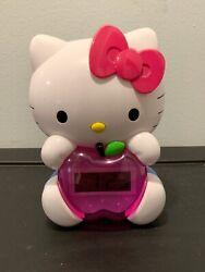 Sanrio Hello Kitty Alarm Clock 2013 Light Up Digital. Works. (SH4)