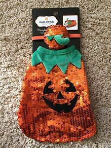 New*Guinea Pig/Small Animal Costume/Clothes*Sequin Pumpkin Outfit w/Matching Hat