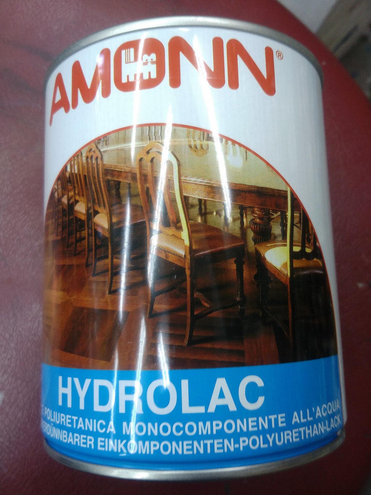 Hidrolack Amonn vernice poliuretanica monocomponente all'acqua trasparente