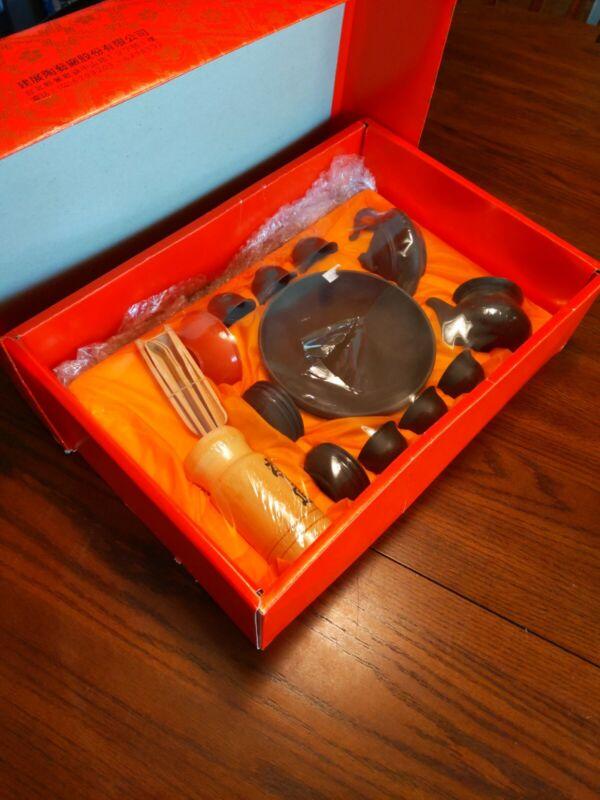 23-Piece Mini Ceramic Chinese Tea and Noodles set bamboo utensils original box