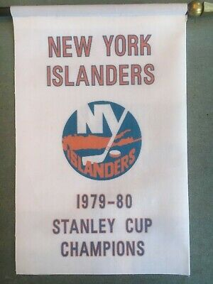 "NY Islanders 1979-1980  Stanley Cup Championship Mini Banner 4"" x 6"" Desk Flag"