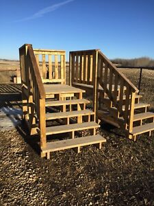 Pressure treated steps