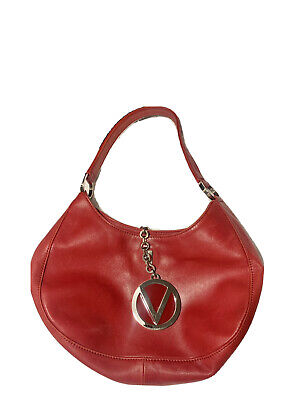 Vintage Valentino Garavani handbag Croissant Shoulder Bag Red Leather