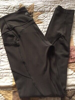 """Lululemon sz 6 All The Right Places 28"""" Pant Tight Legging Dark Olive Green FLAW"""