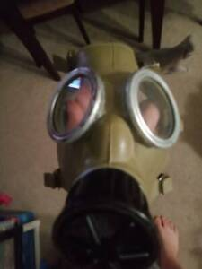 Gas mask military style