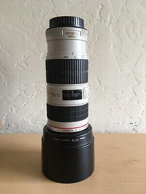 EUC Canon EF 70-200mm f/4 L IS USM Lens, Hood