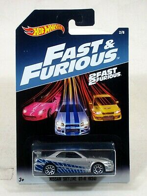 Hot Wheels 2017 Fast & the Furious Series 1:64 NISSAN SKYLINE GT-R (R34) # 2/8