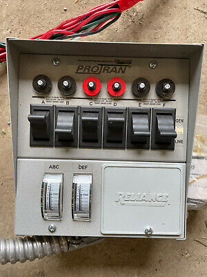 Reliance Pro-tran 30a 6-circuit Generator Transfer Switch
