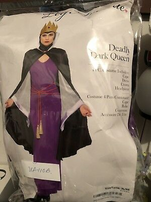 Deadly Dark Queen Xl Costume  - Dead Queen Costume
