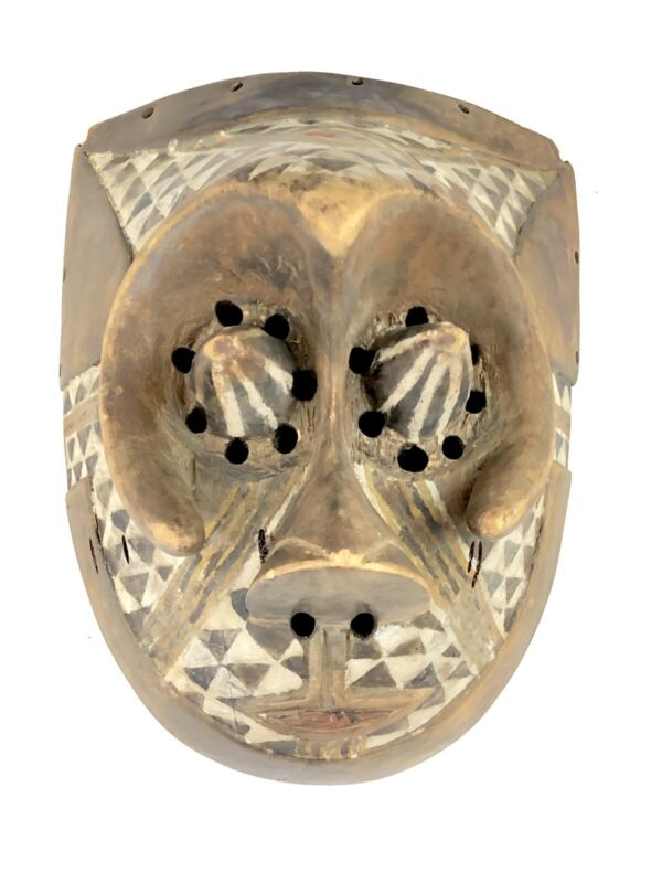 Vintage Unique Wooden Handmade Pwoom Itok Mask - African Tribal Art