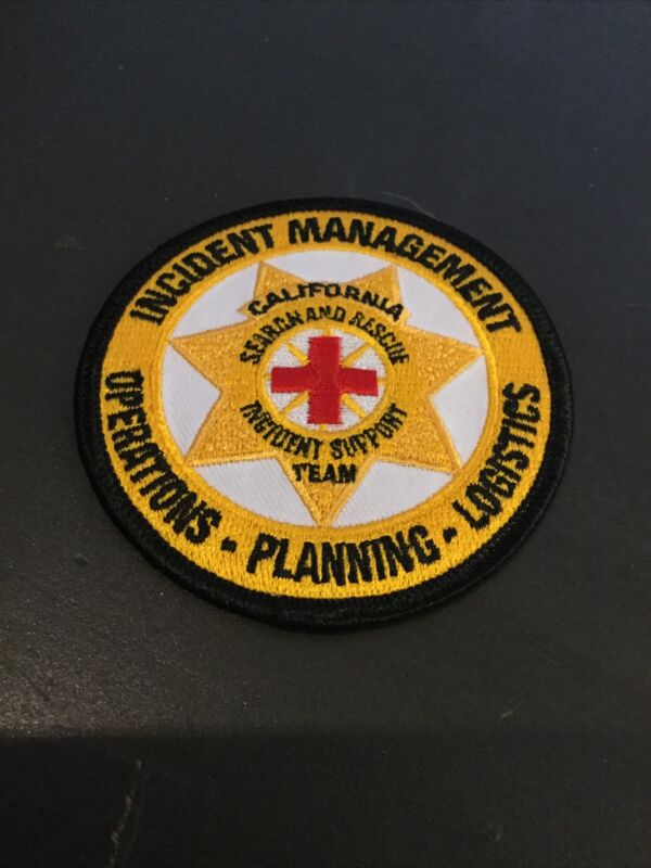 California Patch Search Rescue Incident Support Management Emergency OES