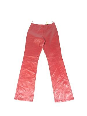 NWOT Womens Sz 6 Real Leather Pants 100% Genuine Red XOXO 28x32 (Real Leather Womens Pants)