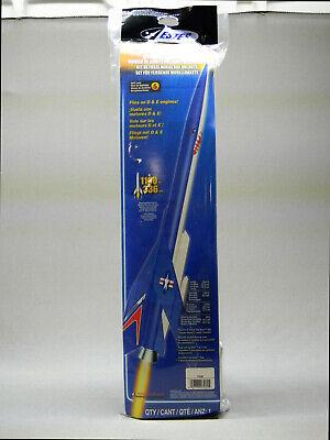 ESTES CONQUEST MODEL ROCKET KIT shark flight blue body space skill 5 EST7230 NEW Flight Model Rocket