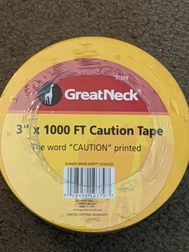 CAUTION Tape! Brand NEW Roll! 3 inch X 1,000 Feet! NEW Caution Tape Roll!
