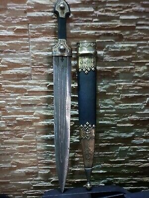 Damascus steel blade Handmade traditional Georgian Dagger Sword Kinjal Qama