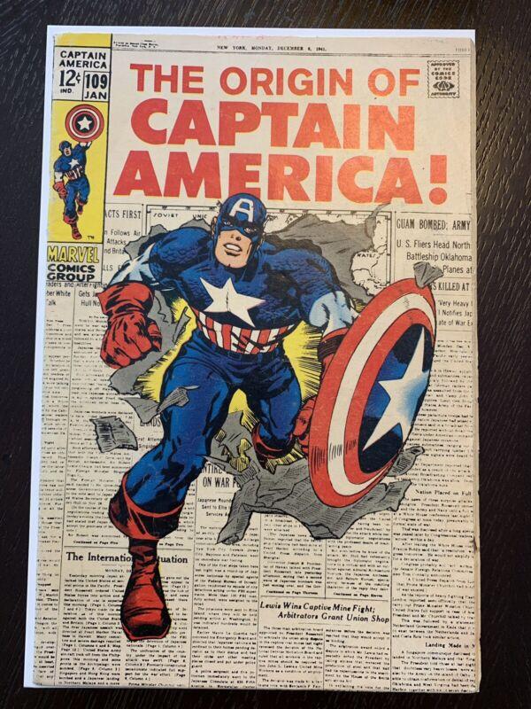 Captain America #109 (Marvel, 1969) mid grade Origin Story
