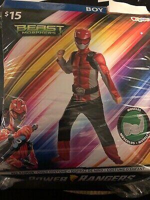 Halloween Costume Boy's Power Ranger Red Ranger Small,  Medium or Large