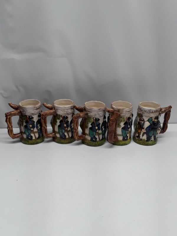 Vintage Whistle For Your Beer German Stein Mug Wistle Ceramic Lot of 5