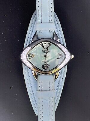 ACTIVA SWISS WATER RESIST 30M. LEATHER WATCH IN LIGHT BLUE