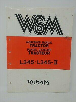 Kubota Wsm Workshop L345 L345-2 Tractor Parts Repair Service Manual