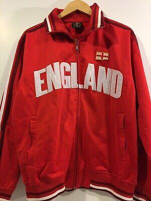 England Jacket Futbol World Soccer Goal Mens Warm Up Track Zip Up Medium England Track Jacket