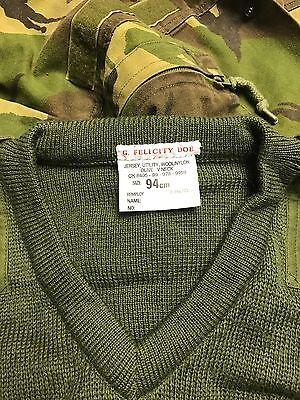British army green 94cm v neck jersey/jumper marines commando sas paint balling