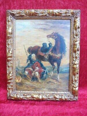 Schönes Bild , Gemälde  , orientalischer Reiter  !