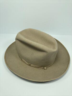 1950s Mens Hats | 50s Vintage Men's Hats Vintage Stetson 3X Beaver Hat 6 7/8 Open Road Western 1950's $199.97 AT vintagedancer.com
