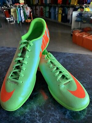 nike mercurial victory IV IC  SOCCER SHOES   LIME GREEN ORANGE  size Mans 9 ONLY Lime Green Soccer Shoes