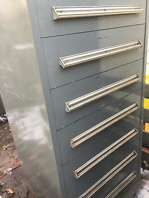 Stanley Vidmar 59 Inch 7 Drawer Tool Metal Cabinet Industrial Equipment Storage