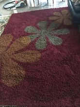 Red with flowers shaggy rug Kingswood Penrith Area Preview