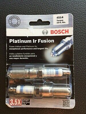 Bosch 4514 Platinum Ir Fusion Spark Plug Package Of 2 New Ir-fusion
