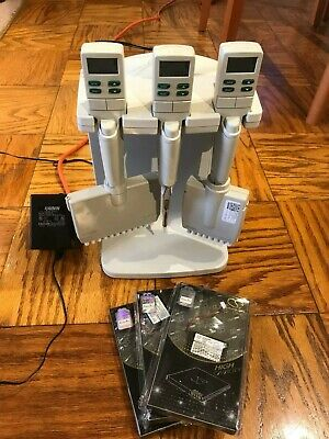 Rainin Edp 3 Plus Lts Electronic Multichannel Pipettes Stand Charger Batteries