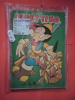 NUOVO LUPETTINO N° 3 DEL 1950-COMICO-COMPLETO GIOCO CENTRALE-PEGASO ROMA -RARO