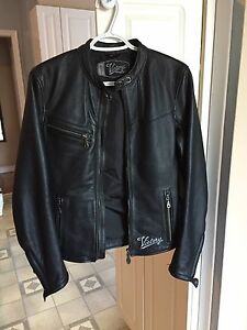 XS Women's Leather Victory Motorcycle Jacket