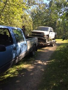 Truck and trailer for hauling