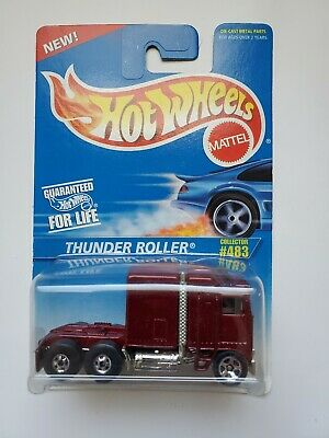 Hot Wheels 1982 Kenworth Thunder Roller Rare HTF '96 Blue Card Series #483.