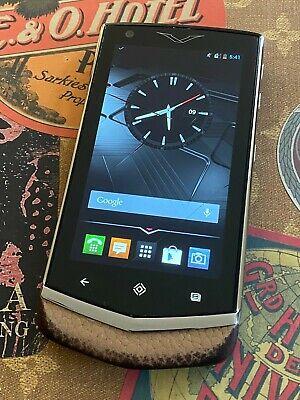 Genuine Vertu Constellation V Android Luxury Phone Tan leather Super RARE $1