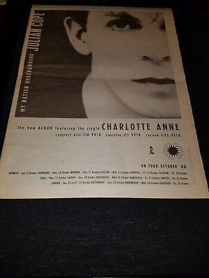 Julian Cope Charlotte Anne Rare Original UK Promo Poster Ad Framed!