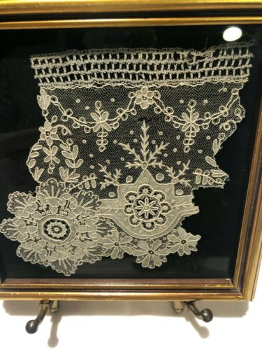 Antique needle lace Burano Italy 17th cent textile crochet linens collectible