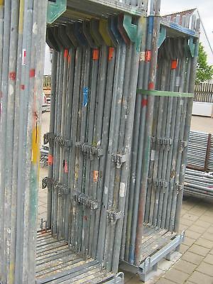 Gebrauchtes Gerüst Layher/Assco/Alfix/MJ ca 65m² Stahlböden 2,57m Baugerüst