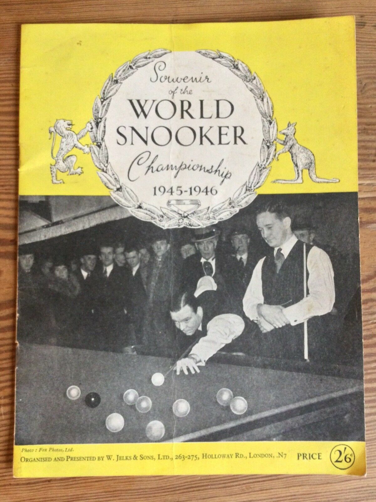 Rare old vintage World Snooker Championship Final Souvenir Programme 1945-46