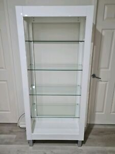 White Gloss Display Shelving