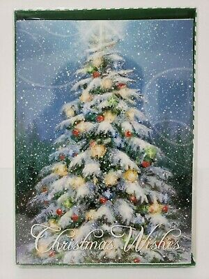 12 Christmas Cards and Envelopes (New Boxed) Navidad, Holidays, Greeting, Xmas ()