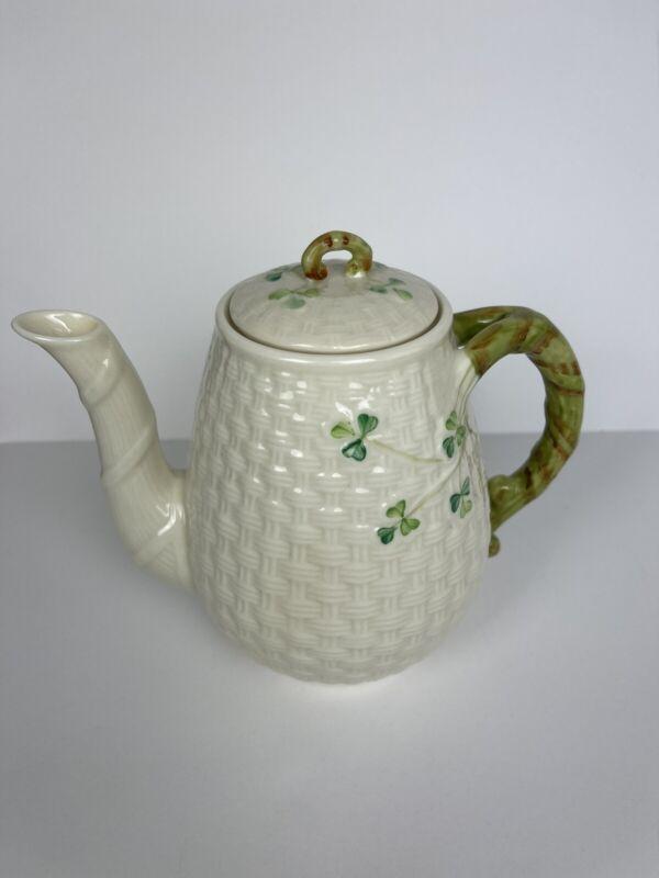 Irish Belleek Shamrock Tea Pot  - 7th mark - 1980 - 1993