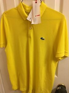 Men's Lacoste polo with original tags